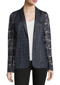 Elie Tahari Rooney Lace-Sleeve Jacket