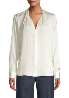 Elie Tahari Rosalina Stretch Silk Blouse