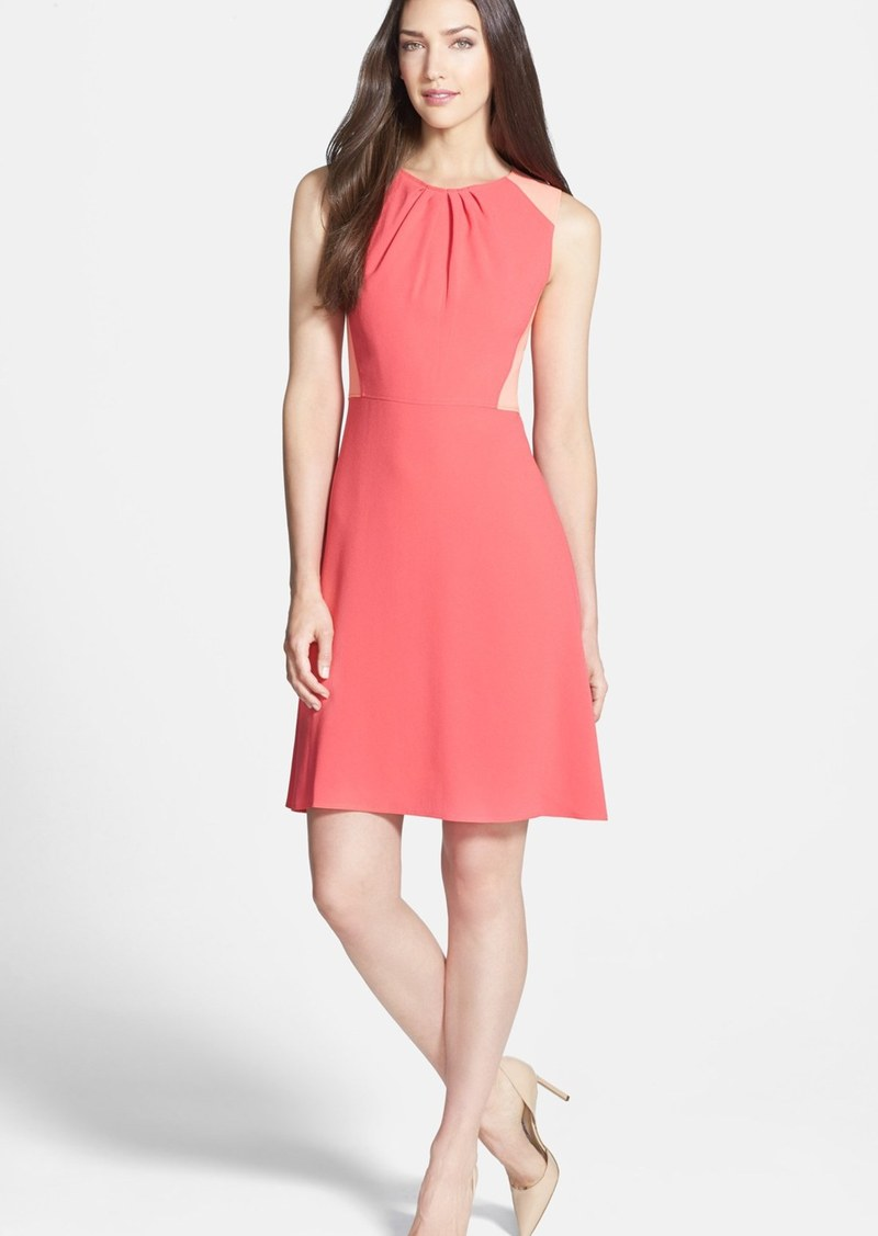 Elie Tahari 'Rosario' Colorblock Crepe Fit & Flare Dress