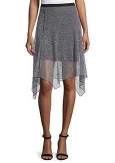 Elie Tahari Rosetta Open-Weave Hanky Skirt