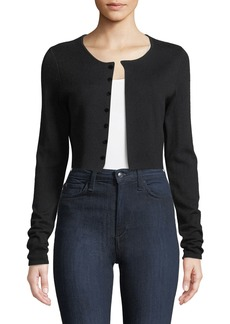 Elie Tahari Rosie Cropped Merino Cardigan Sweater