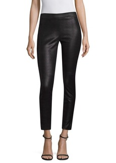 Elie Tahari Roxanna Leather Printed Pants