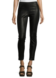 Elie Tahari Roxanna Leather Skinny Pants