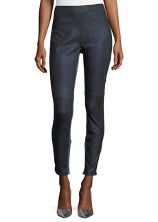 Elie Tahari Roxanna Skinny Denim-Effect Leather Pants