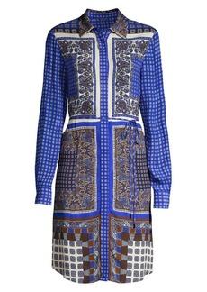 Elie Tahari Roxanne Paisley Georgette Dress