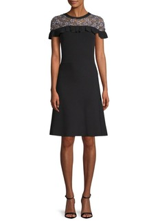 Ruffle-Trim Sweater Dress