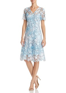 Elie Tahari Samari Lace Fit-and-Flare Dress