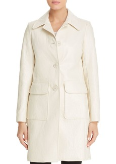 Elie Tahari Sampson Faux-Patent-Leather Coat