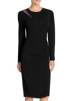 Elie Tahari Saniya Lace Shoulder Dress