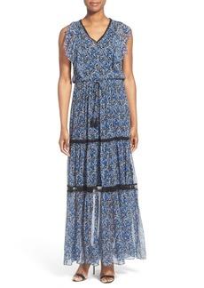 Elie Tahari 'Sanna' Tiered Silk A-Line Maxi Dress