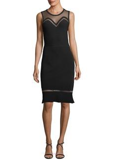 Elie Tahari Saskia Illusion Sleeveless Dress