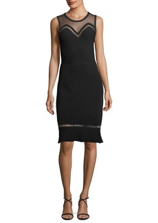 Elie Tahari Saskia Illusion Sleeveless Dress