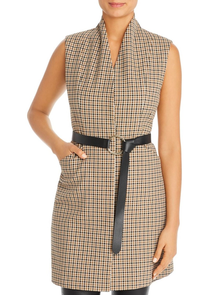 Elie Tahari Savannah Long Belted Vest