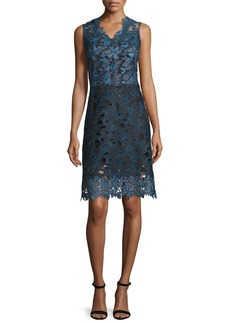 Elie Tahari Savon Sleeveless Floral Lace A-Line Dress