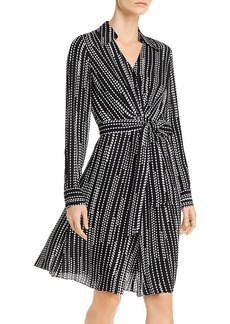 Elie Tahari Saxon Diamond-Stripe Shirt Dress