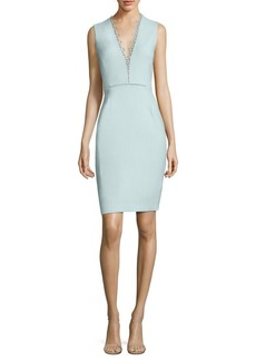 Elie Tahari Saylah Lace-Trim Sheath Dress
