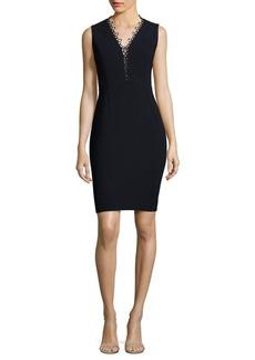 Elie Tahari Saylah Lace-Trim Sheath Dress