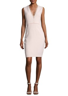 Elie Tahari Saylah Sleeveless Lace-Trim Sheath Dress