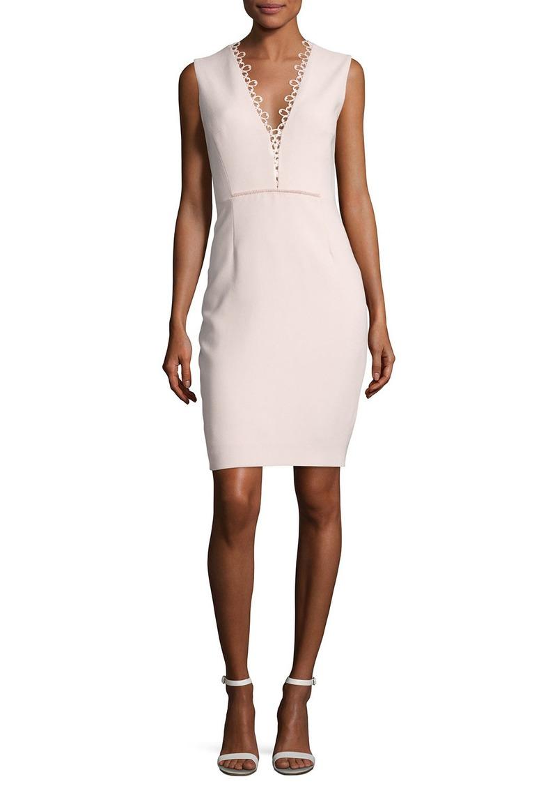 Elie Tahari Saylah Sleeveless Lace-Trim Sheath Dress