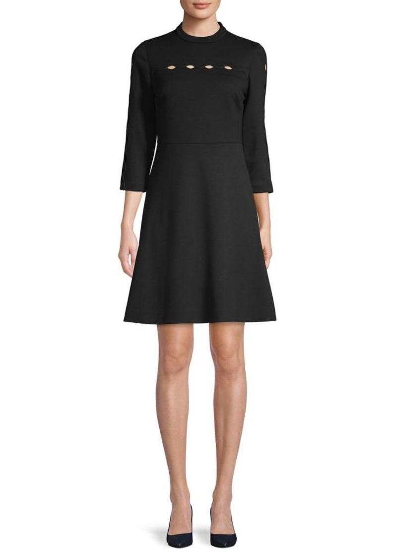Elie Tahari Senna Fit-and-Flared Dress