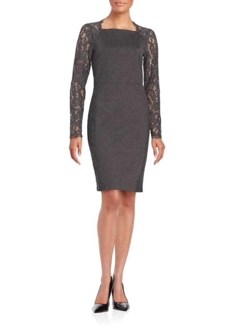 2a8c87363f9bd Elie Tahari Elie Tahari Serena Lace-Accented Sheath Dress | Dresses