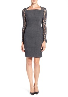 Elie Tahari 'Serena' Lace Sleeve Sheath Dress