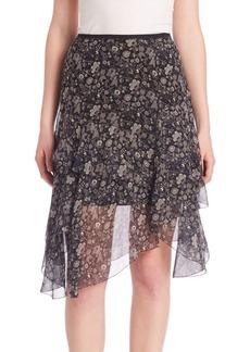 Sharon Floral Chiffon Skirt
