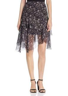 Elie Tahari Sharon Floral Silk Skirt