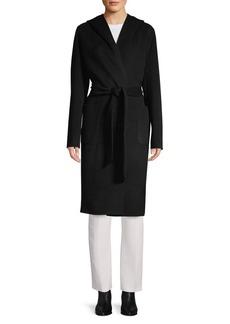 Elie Tahari Shawl Wool-Blend Wrap Coat
