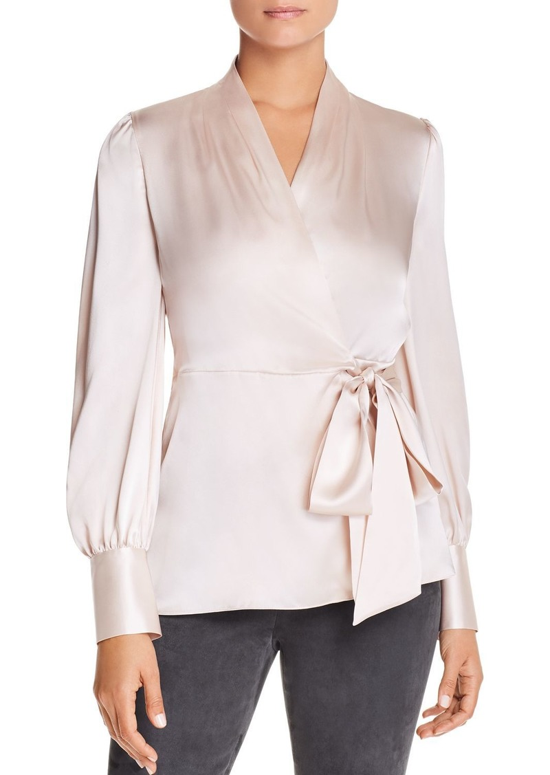 Elie Tahari Shay Silk Wrap Blouse - 100% Exclusive