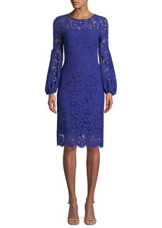 Elie Tahari Shayla Floral-Lace Sheath Dress