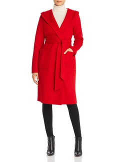 Elie Tahari Shea Wool-Blend Hooded Wrap Coat