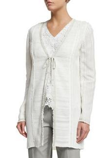 Elie Tahari Sheldon Self-Tie Woven Coat