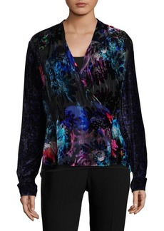 Elie Tahari Shelly Velvet Blouse