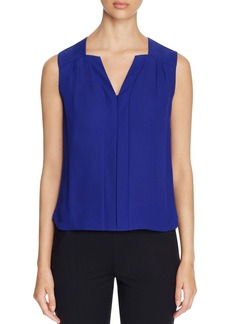 Elie Tahari Sheyda Pleat Silk Top