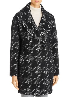 Elie Tahari Shiloh Brushed Houndstooth Coat