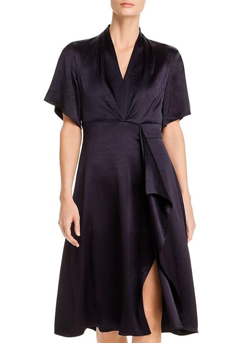 Elie Tahari Shiran Satin Faux-Wrap Dress