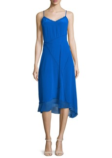 Elie Tahari Shirley Sleeveless Asymmetric-Hem Dress