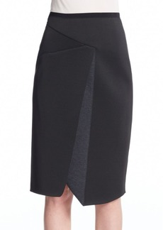 Elie Tahari Jacie Scuba Asymmetrical Skirt