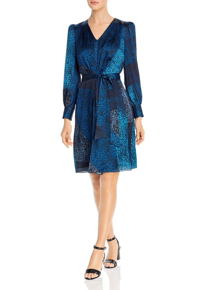 Elie Tahari Silk Leopard Patchwork Print Dress - 100% Exclusive