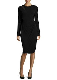 Elie Tahari Sinaya Long-Sleeve Cocktail Dress
