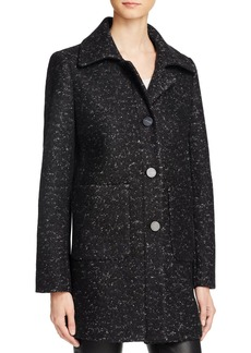 Elie Tahari Single-Breasted Button Front M�lange Coat