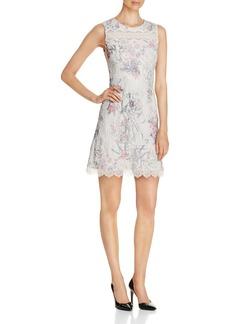 Elie Tahari Skyla Floral Print Seersucker Dress