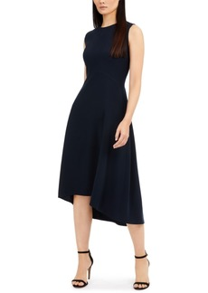 Elie Tahari Sleeveless Asymmetrical-Hem Dress
