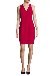 Elie Tahari Sleeveless Zip-Front Dress