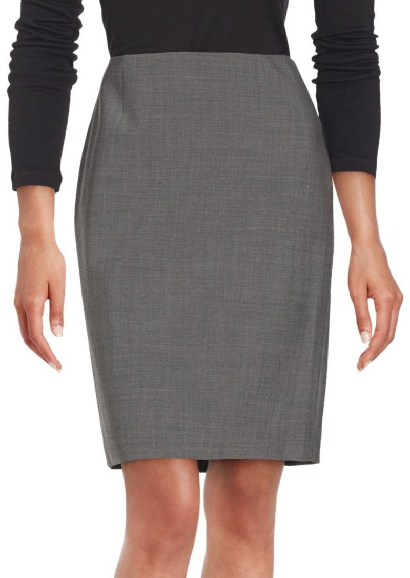 Elie Tahari Solid Pencil Skirt