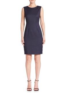 Elie Tahari Solid Wool-Blend Sheath Dress