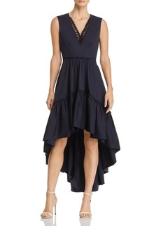 Elie Tahari Sondra High/Low-Hem Dress