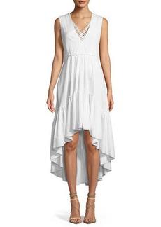 Sondra V-Neck High-Low Dress