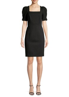 Elie Tahari Squareneck Mini Sheath Dress